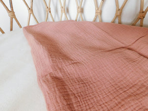 Organic Swaddle - Clay