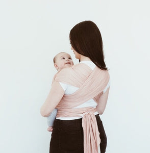 Bamboo Wrap Carrier - Blush