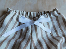 Load image into Gallery viewer, Summer Shorts - Taupe Stripe