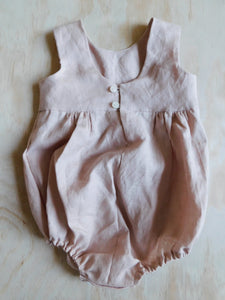 Nude Pink Bloom Romper