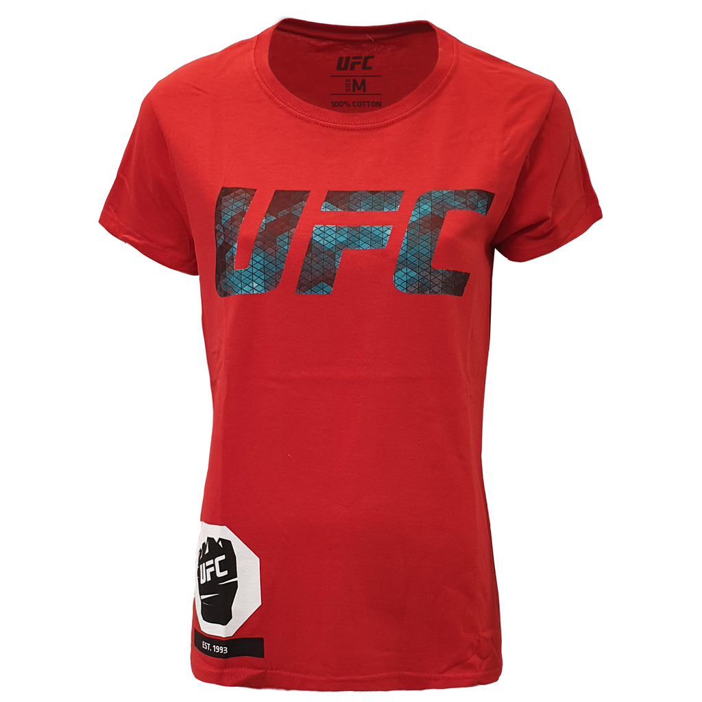Women's UFC Octagon Cage Graphic Tee - Red
