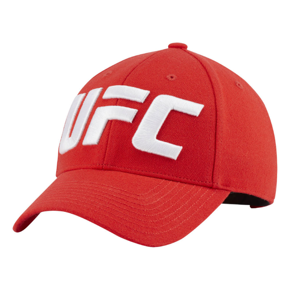 UFC Reebok Logo Baseball Hat - Red