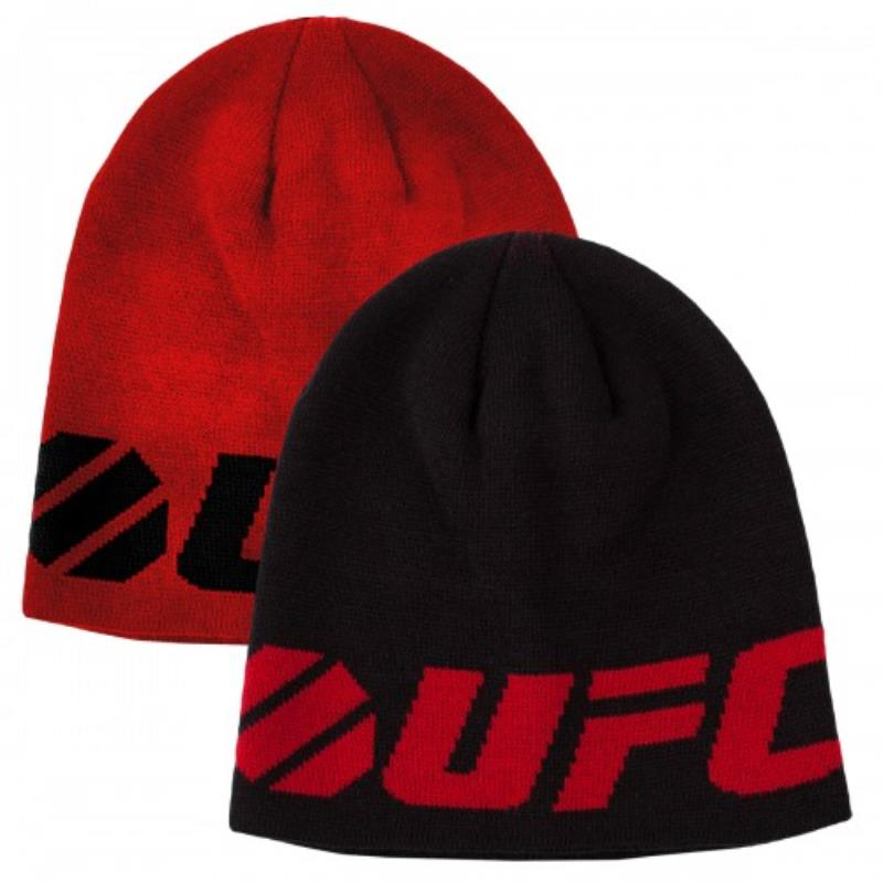UFC Fine Gauge Reversible Beanie Black/Red