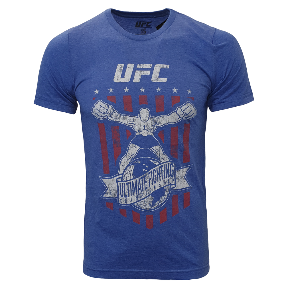 Men's UFC Utli-Man Distrissed Graphic Print Tee - Blue
