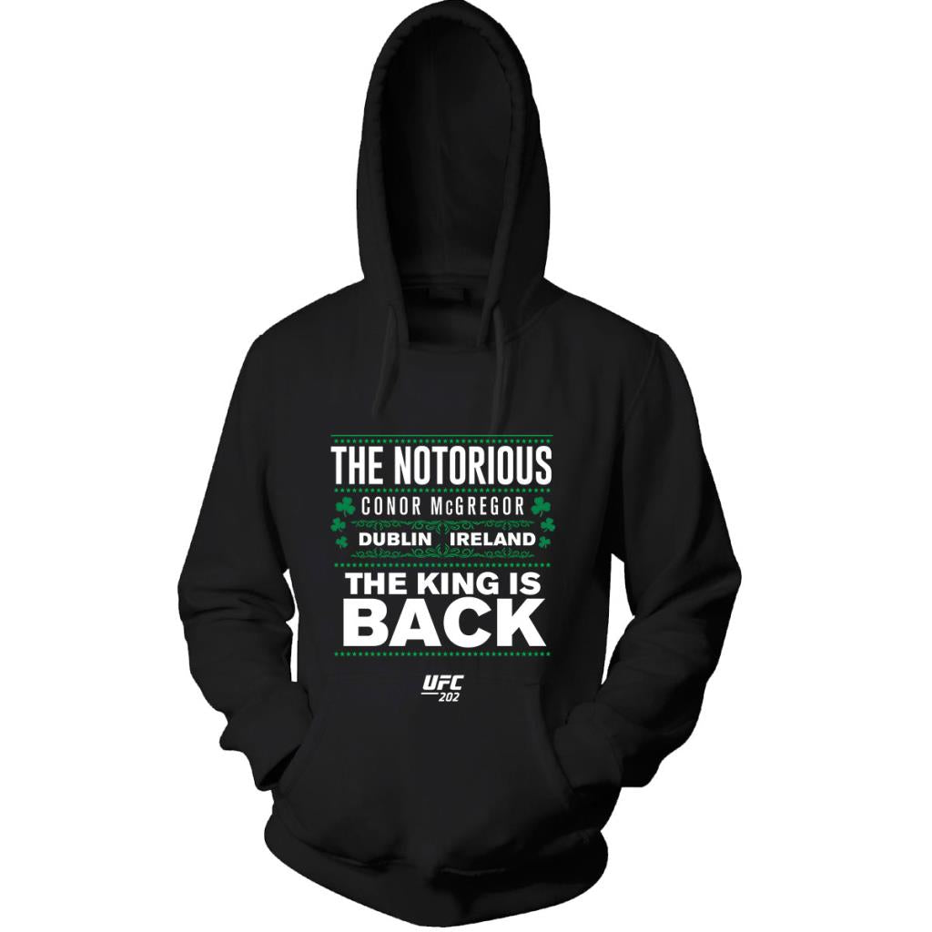 "UFC 202 Conor McGregor ""The Notorious""The King is Back!  Hoodie-Black"