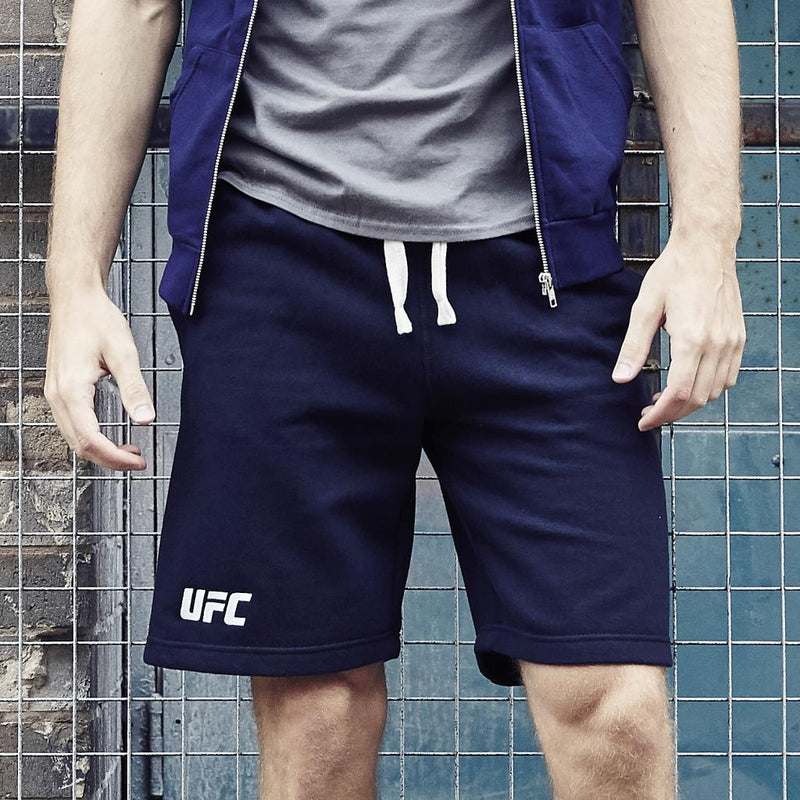 UFC Campus Embroidered Logo Shorts-Navy