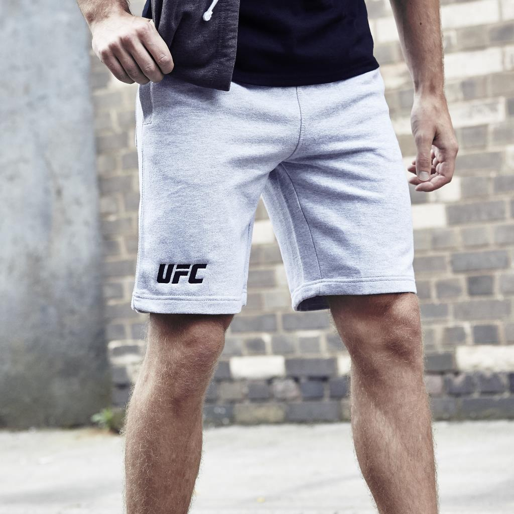 UFC Campus Embroidered Logo Shorts-Heather Grey
