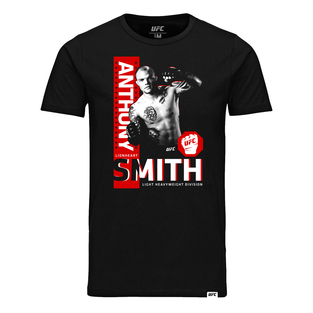 "Men's Anthony ""Lionheart"" Smith Portrait T-Shirt- Black"