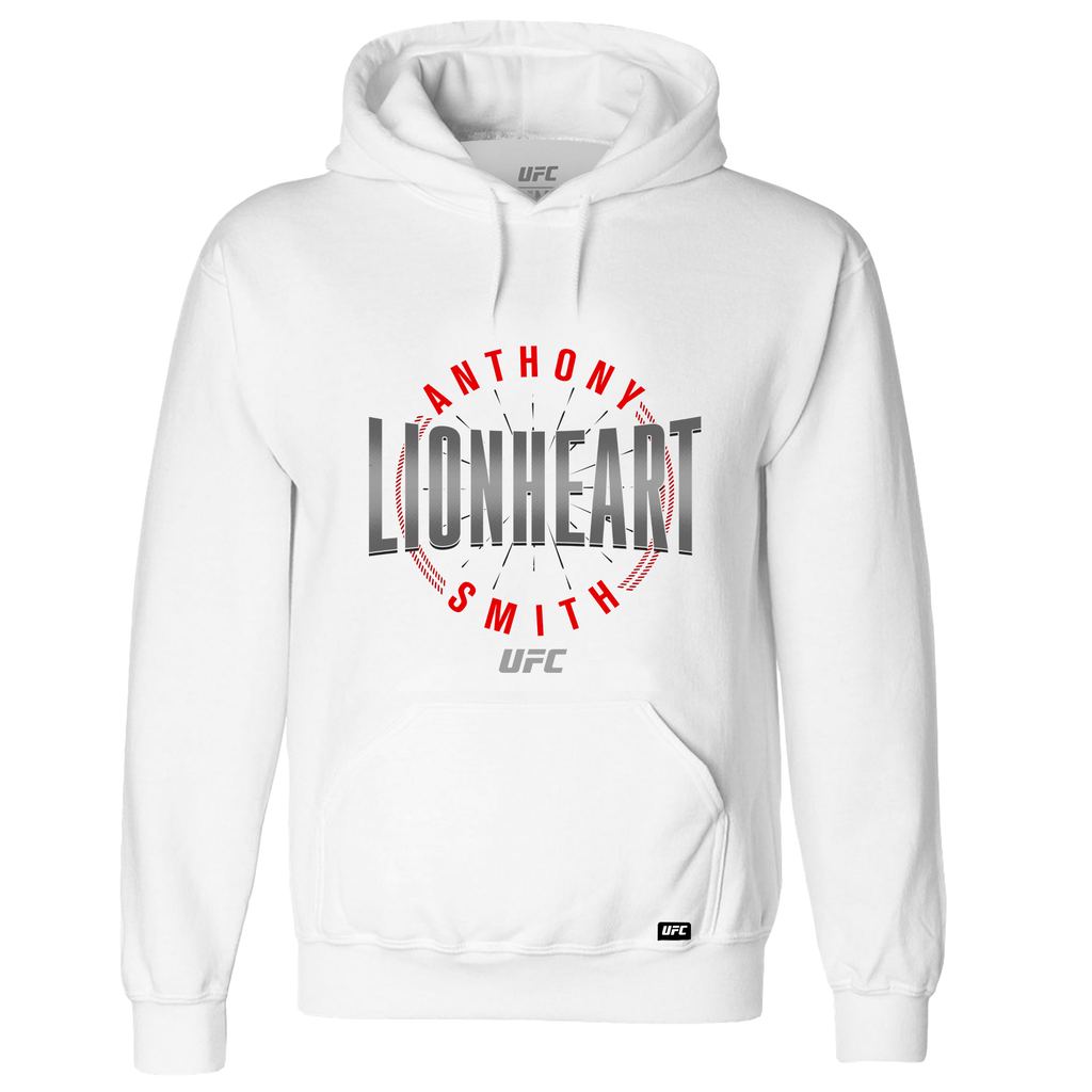"Men's Anthony ""Lionheart"" Smith Graphic Hoodie- White"
