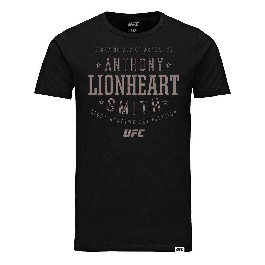 "Men's Anthony ""Lionheart"" Smith Stacked T-Shirt- Black"