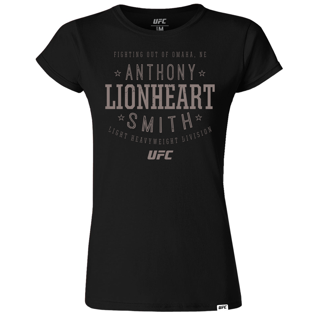 "Women's Anthony ""Lionheart"" Smith Stacked T-Shirt- Black"