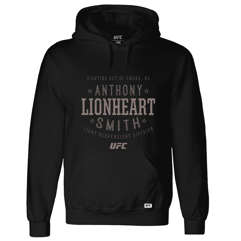 "Men's Anthony ""Lionheart"" Smith Stacked Sweatshirt- Black"