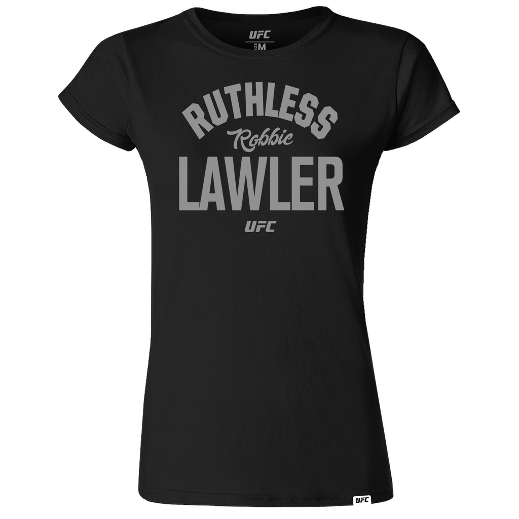 "Women's Robbie ""Ruthless"" Lawler Old School UFC T-Shirt- Black"