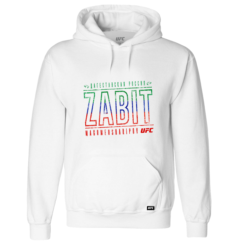 Men's Zabit Magomedsharipov colours #2 UFC Hoodie-White