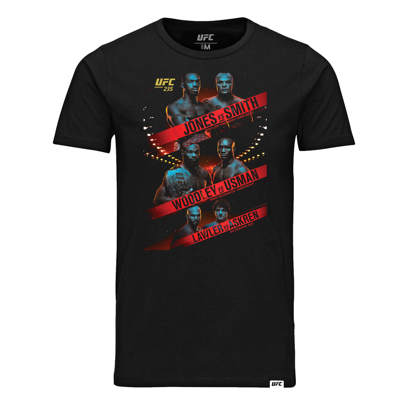Men's UFC 235 Jones vs Smith Event T-Shirt-Black