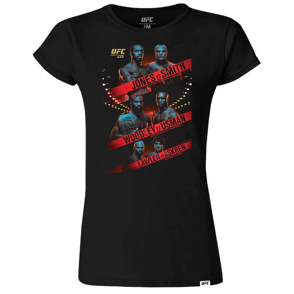 Women's UFC 235 Jones vs Smith Event T-Shirt-Black