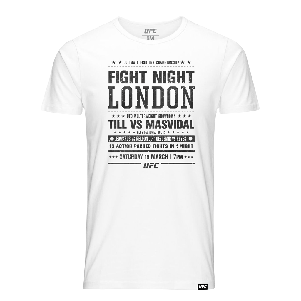 Men's UFC Fight Night London City T-Shirt-White