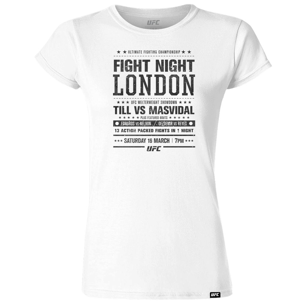 Women's UFC Fight Night London City T-Shirt-White