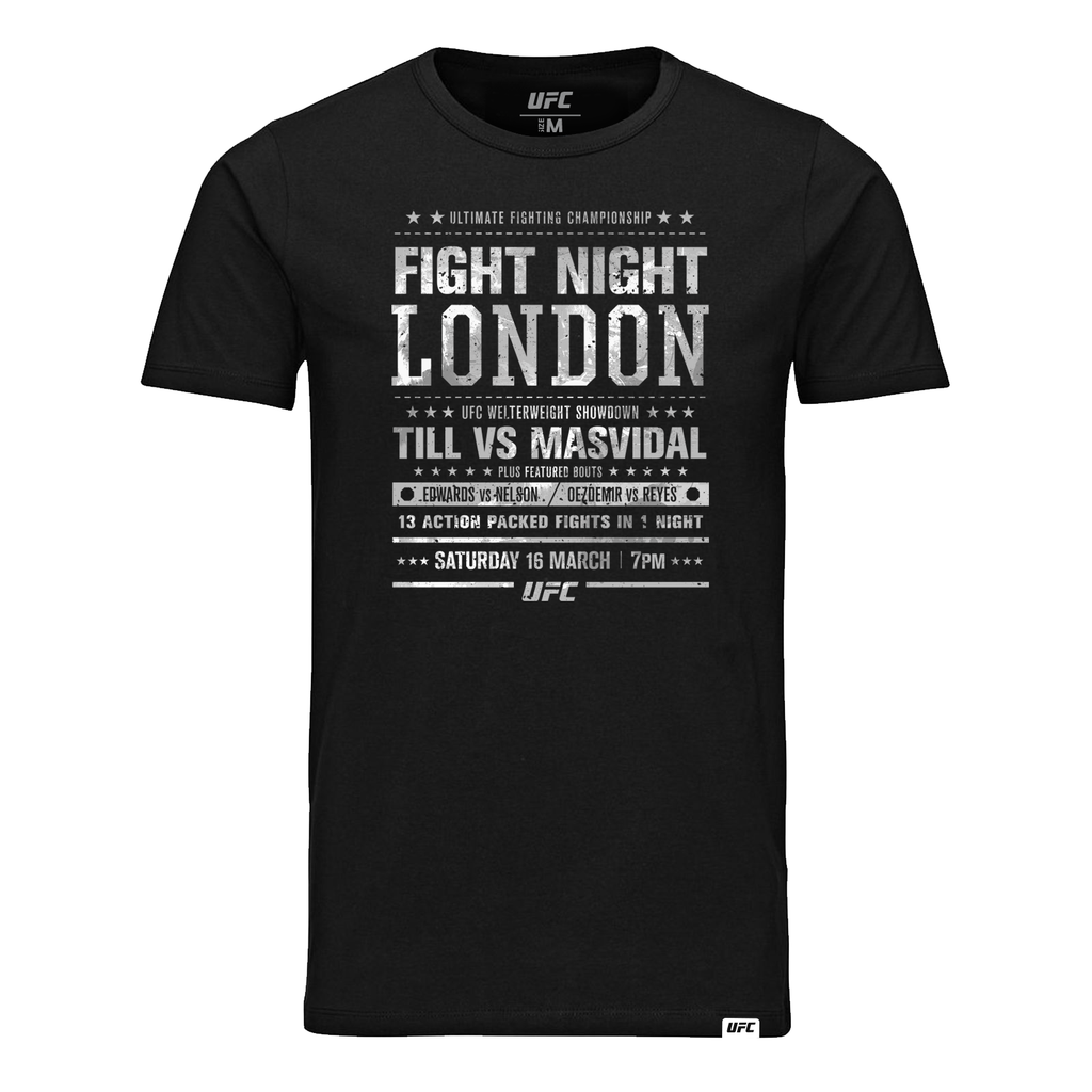 Men's UFC Fight Night London City T-Shirt-Black