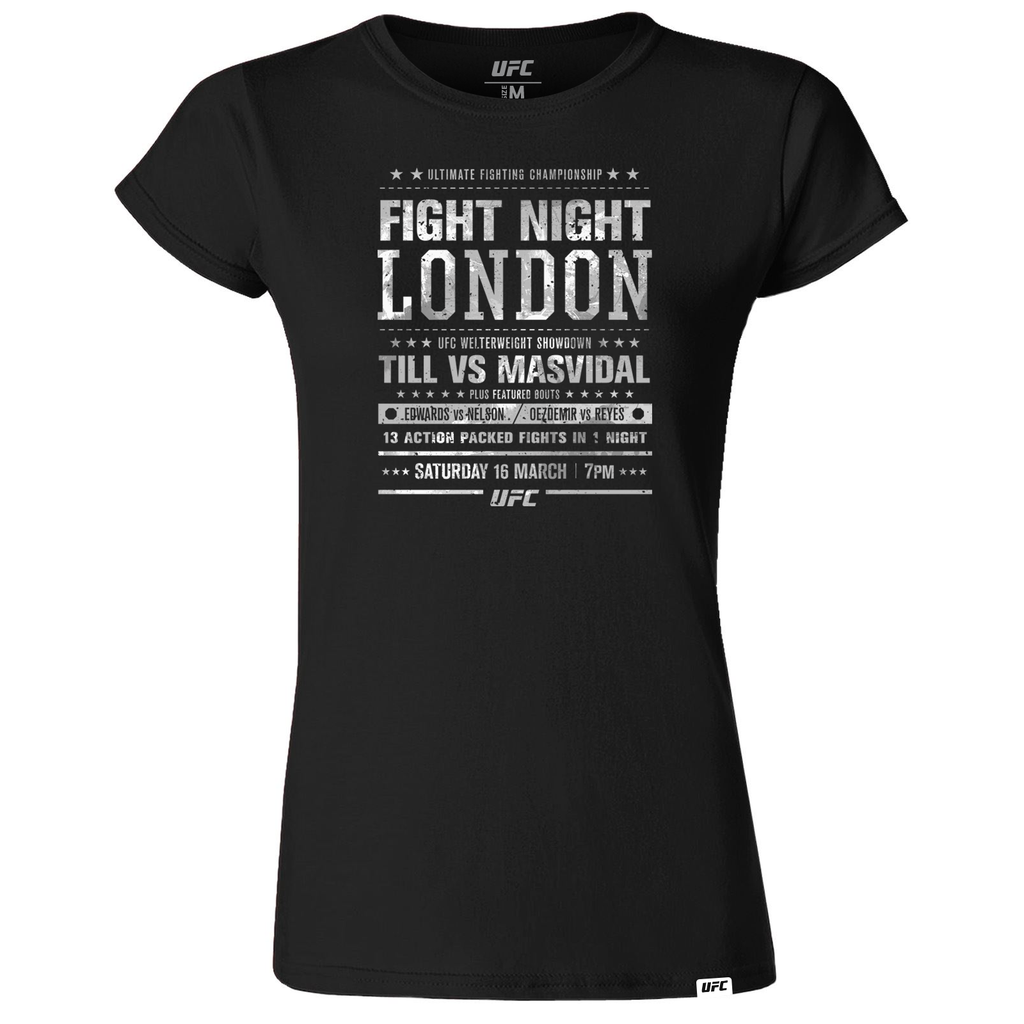 Women's UFC Fight Night London City T-Shirt-Black