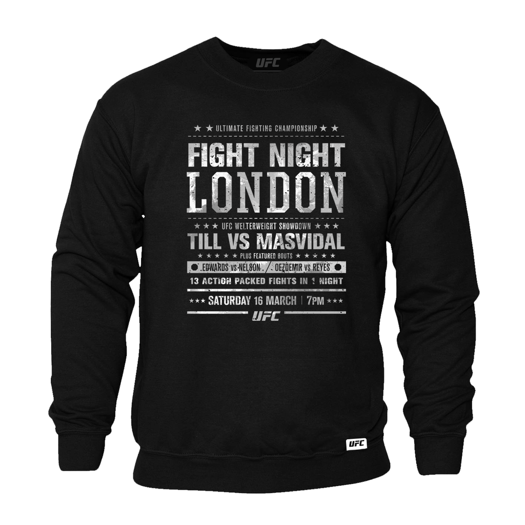 Men's UFC Fight Night London City Sweatshirt-Black