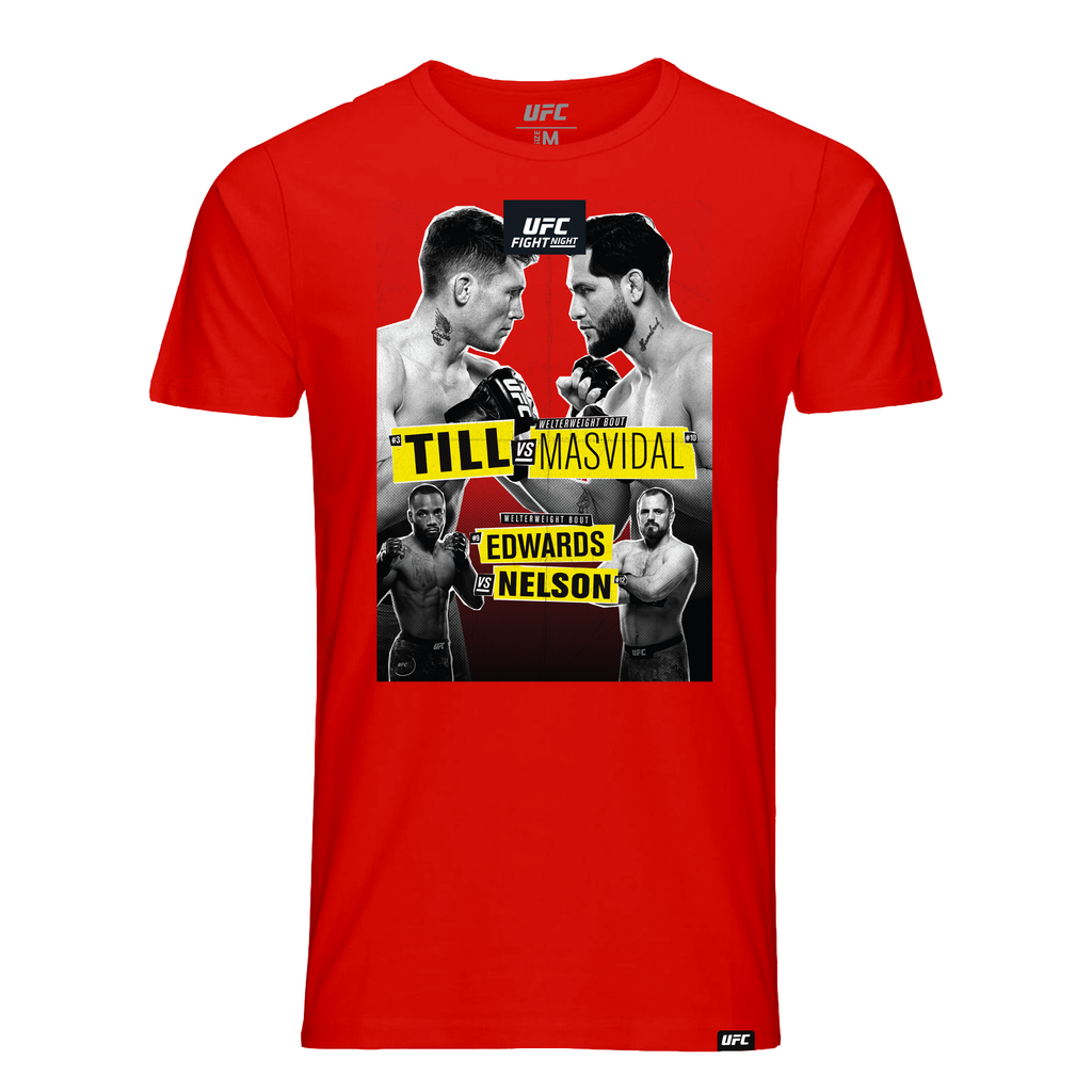 Men's UFC Fight Night London Till vs. Masvidal Event T-Shirt- Red