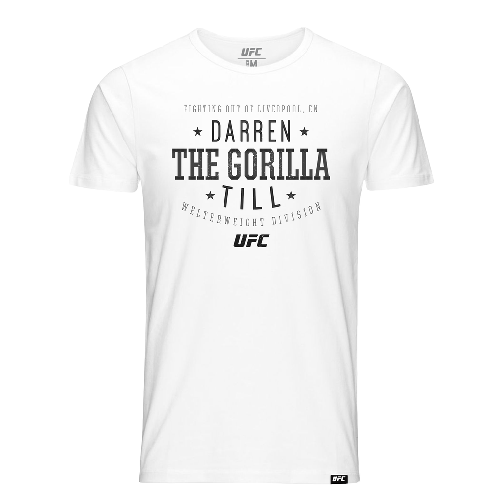 "Men's UFC Darren ""The Gorilla"" Till  Script UFC T-Shirt- White"