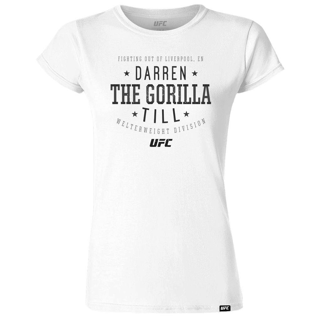 "Women's UFC Darren ""The Gorilla"" Till  Script UFC T-Shirt- White"