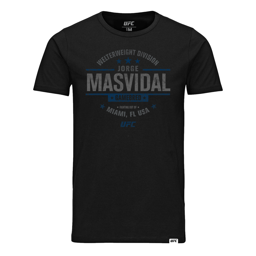 "Men's UFC Jorge ""Gamebred"" Masvidal Graphic UFC T-Shirt- Black"