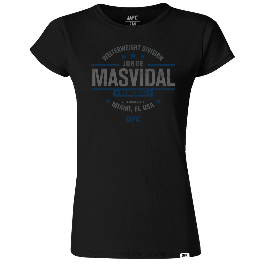 "Women's UFC Jorge ""Gamebred"" Masvidal Graphic UFC T-Shirt- Black"