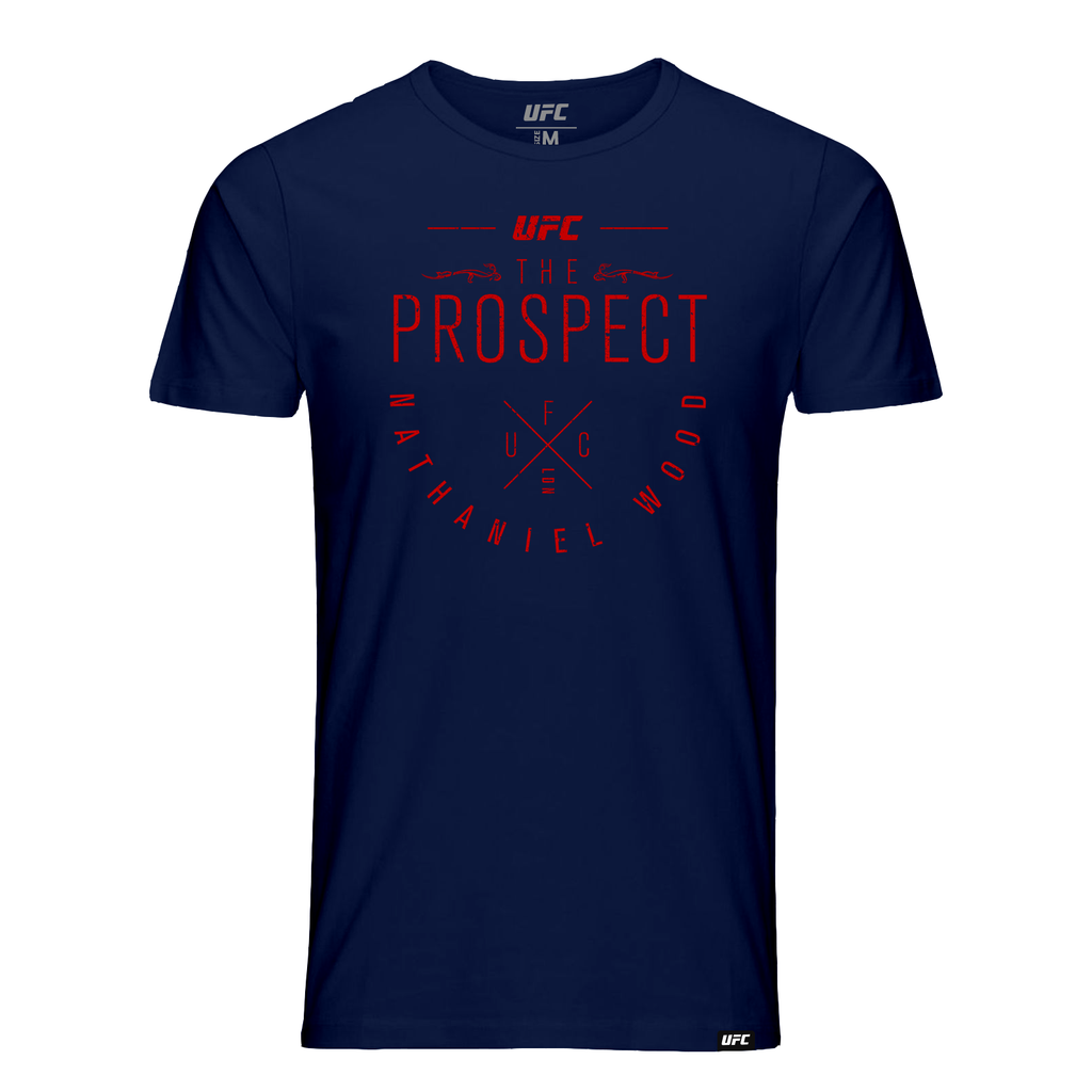 "Men's UFC Nathaniel ""The Prospect"" Wood Script Tee-Navy"