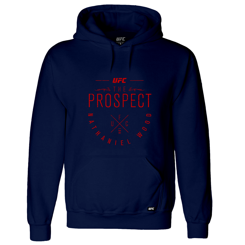 "Men's UFC Nathaniel ""The Prospect"" Wood Script Hoodie-Navy"