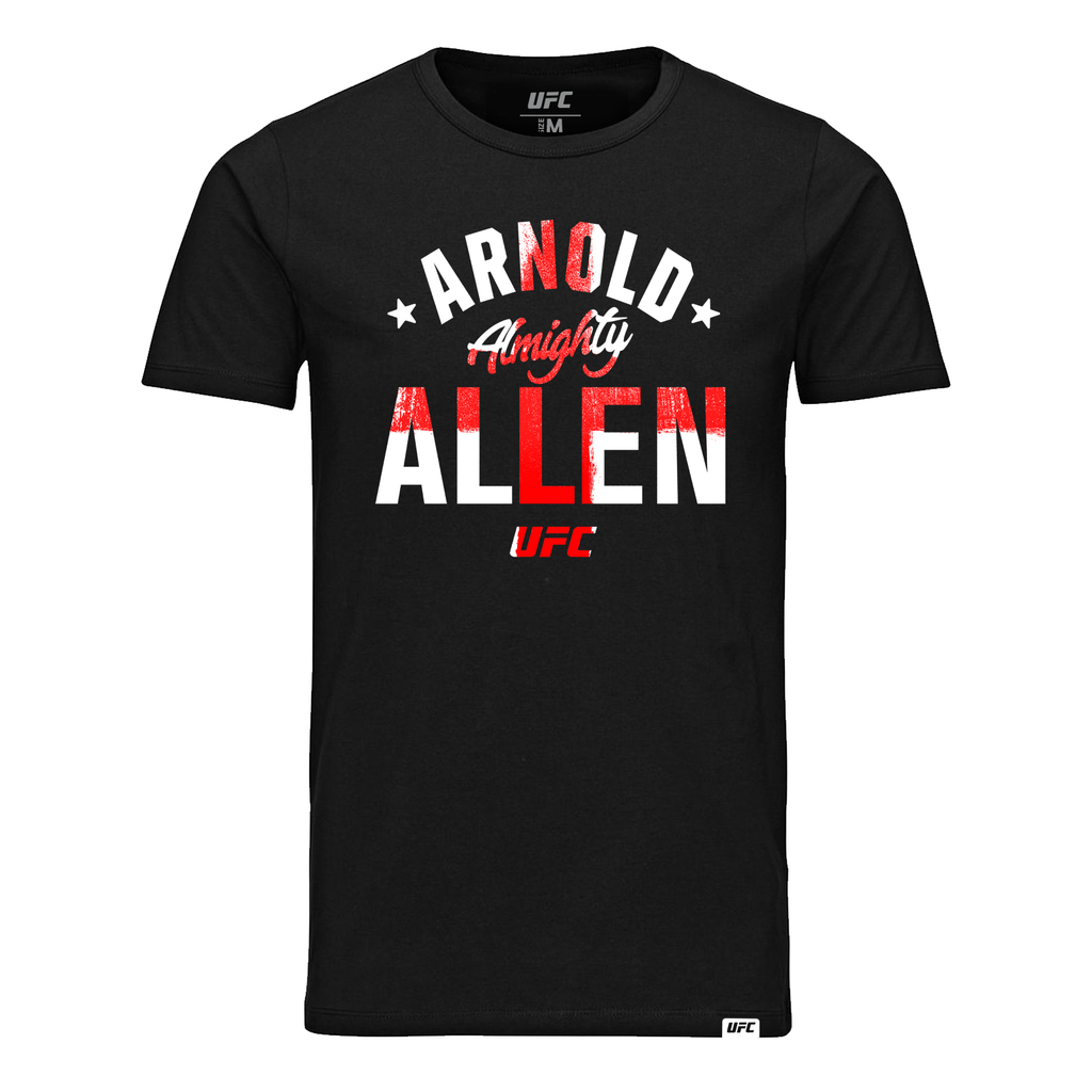 "Men's UFC Arnold ""Almighty"" Allen Old School UFC T-Shirt- Black"