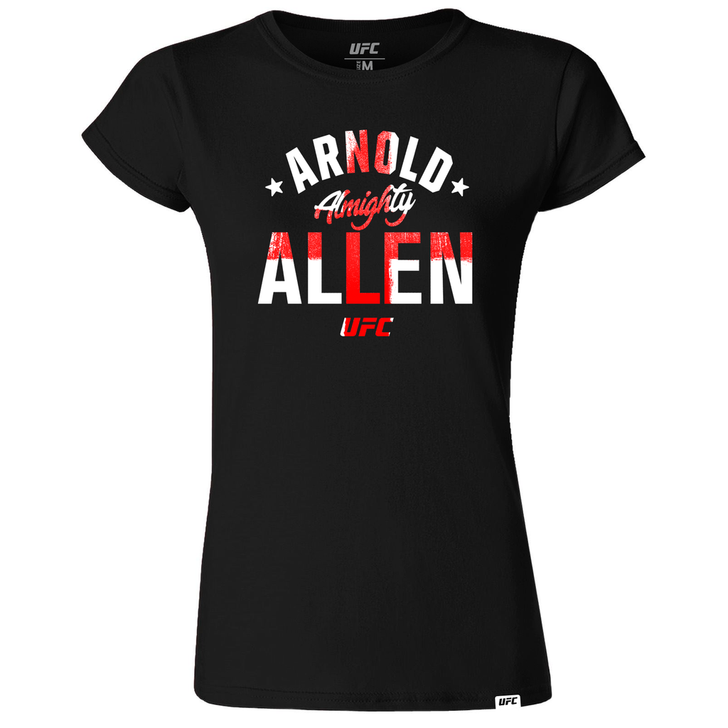 "Women's UFC Arnold ""Almighty"" Allen Old School UFC T-Shirt- Black"