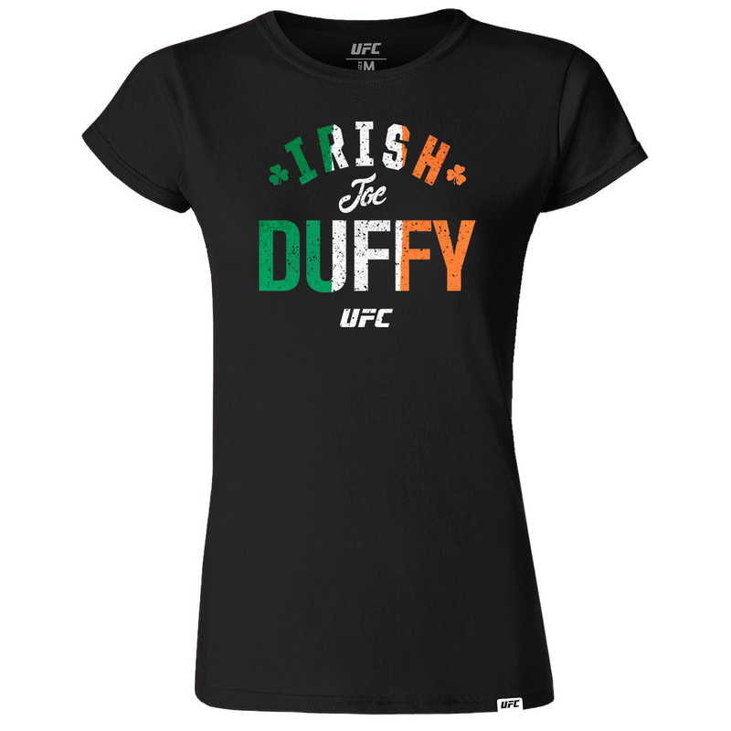 "Women's UFC Joe ""Irish"" Duffy Old School UFC T-Shirt- Black"