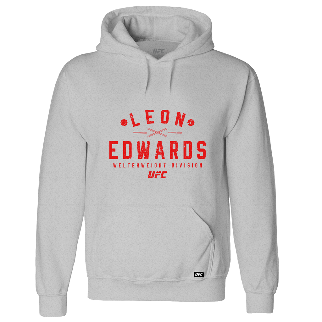 Men's UFC Leon Edwards UFC Hoodie- Grey