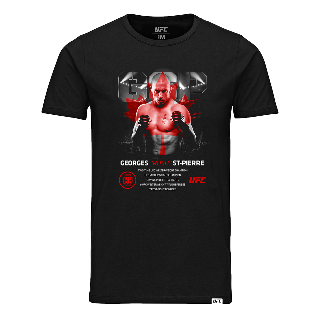 "Men's Georges ""Rush"" St-Pierre Legacy ICON UFC T-Shirt- Black"