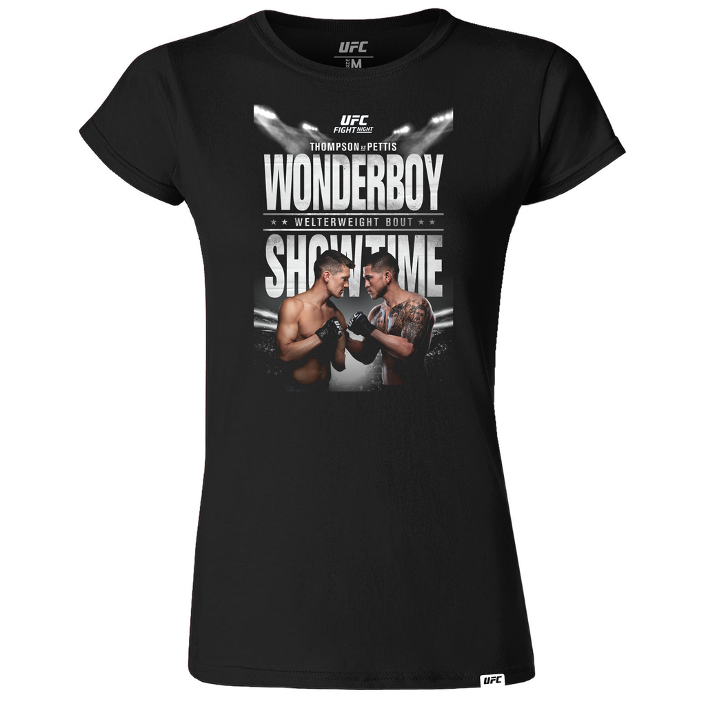Women's Fight Night Nashville Wonderboy vs Pettis Event Tee-Black