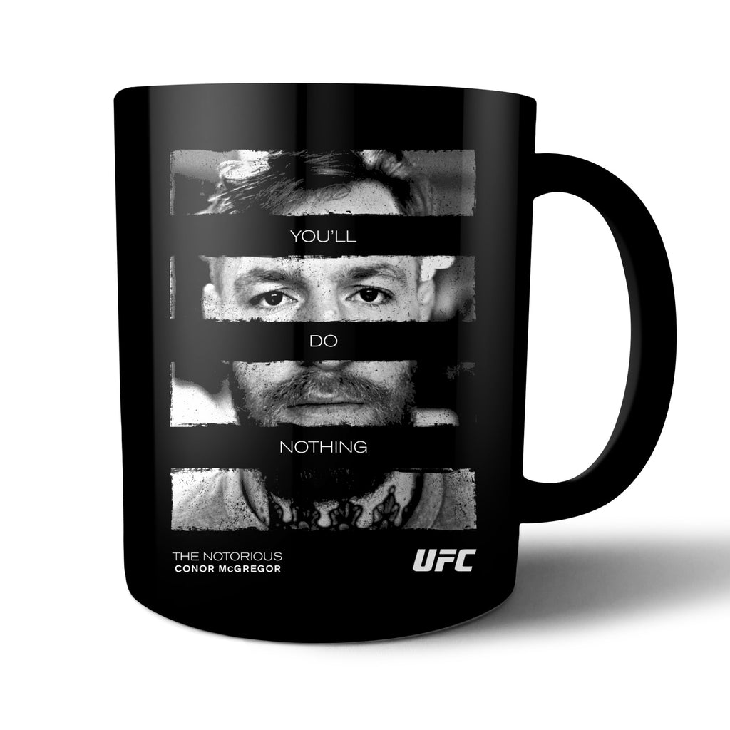 "UFC Conor ""The Notorious"" McGregor You'll do Nothing! Mug-Black"
