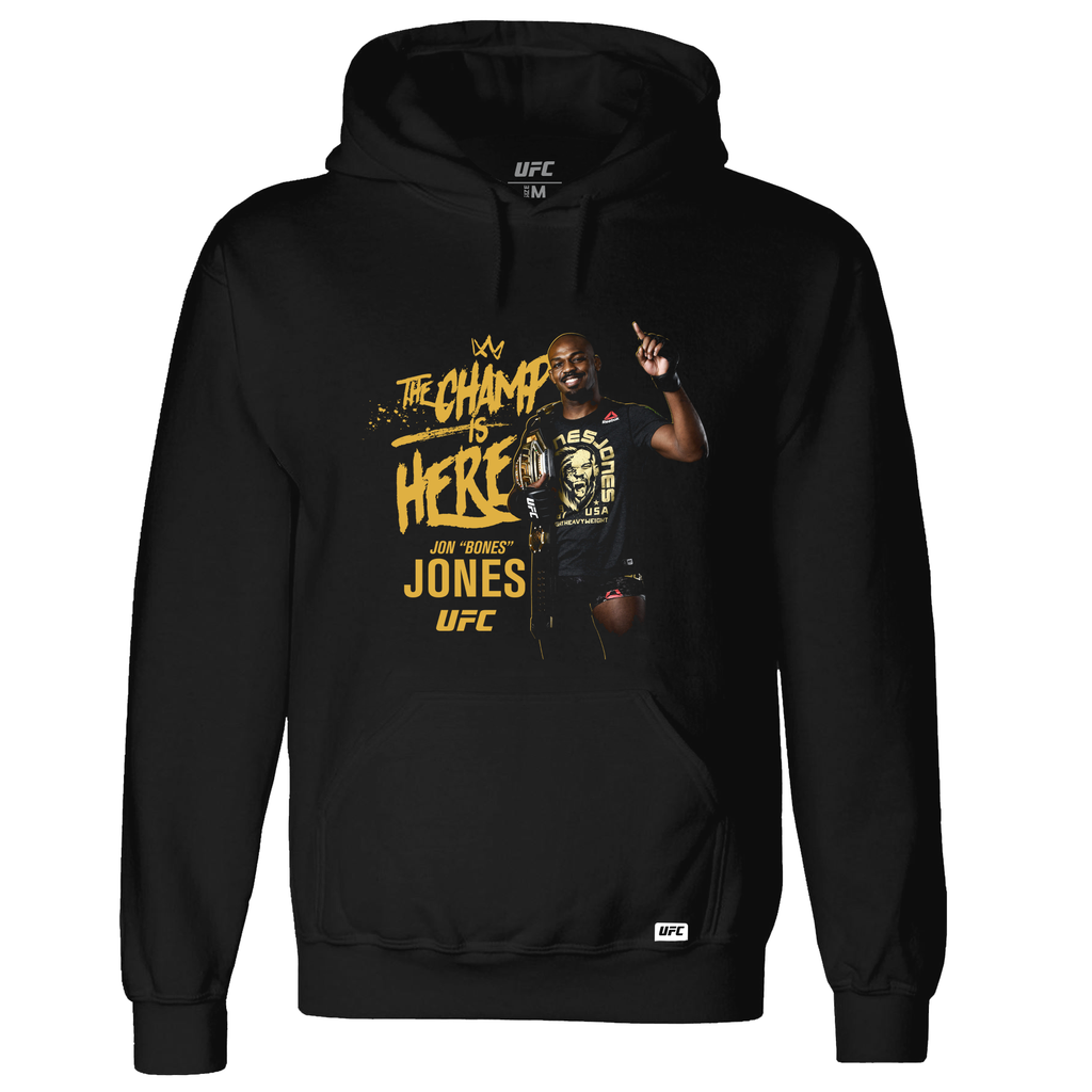 "Men's UFC Jon ""Bones"" Jones Light Heavyweight Champion Hoodie- Black"