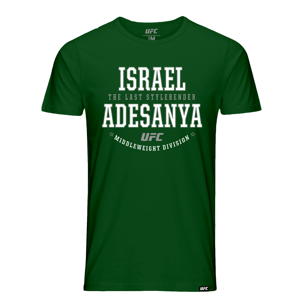 "Kid's Israel ""The Last Style Bender"" Adesanya Graphic UFC T-Shirt- Green"