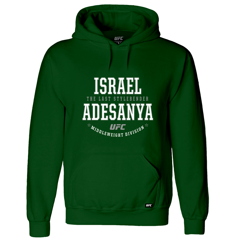 "Men's Israel ""The Last Style Bender"" Adesanya Graphic UFC Hoodie- Green"