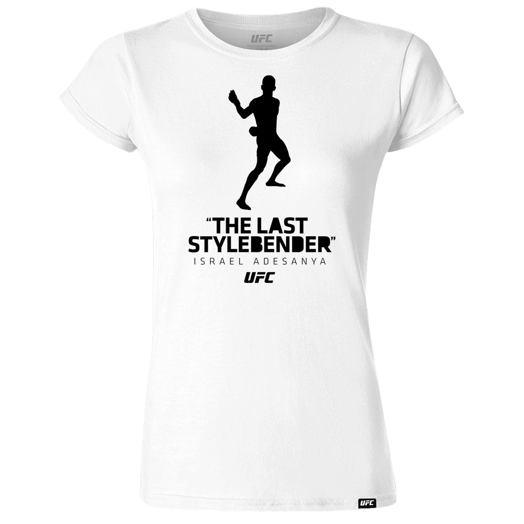 "Women's Israel ""The Last Style Bender"" Adesanya Silhouette UFC T-Shirt- White"