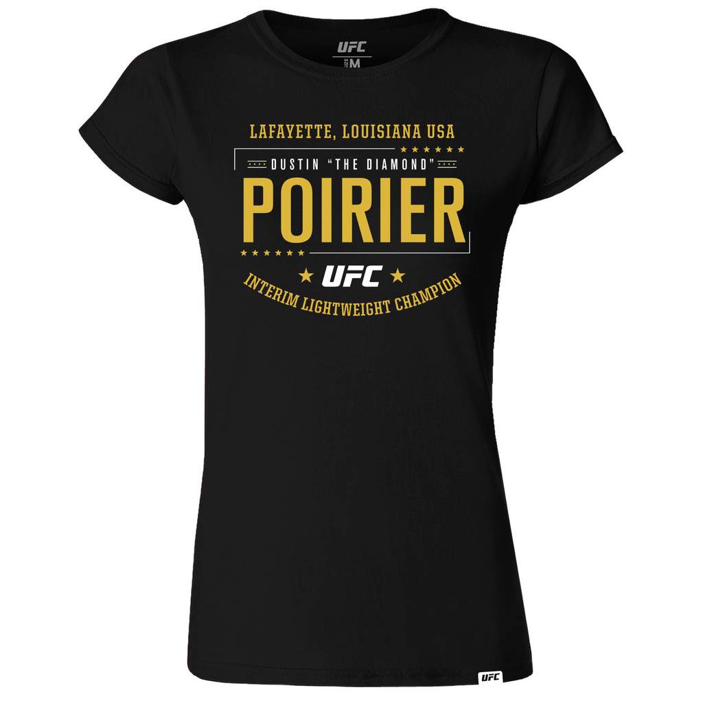"Women's Dustin ""The Diamond"" Poirier Interim Lightweight Champion T-Shirt- Black"