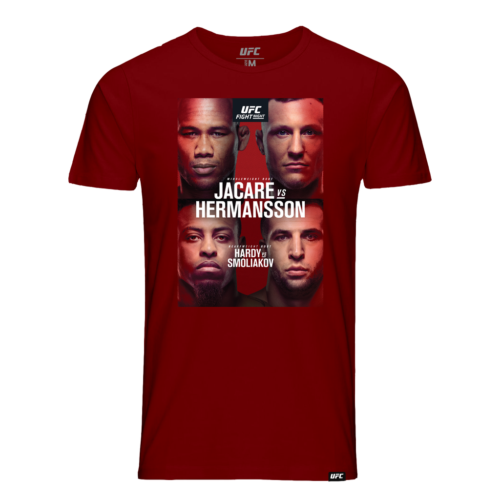 Kid's UFC Fight Night Fort-Lauderdale Jacare vs Hermansson  Event T-Shirt - Red