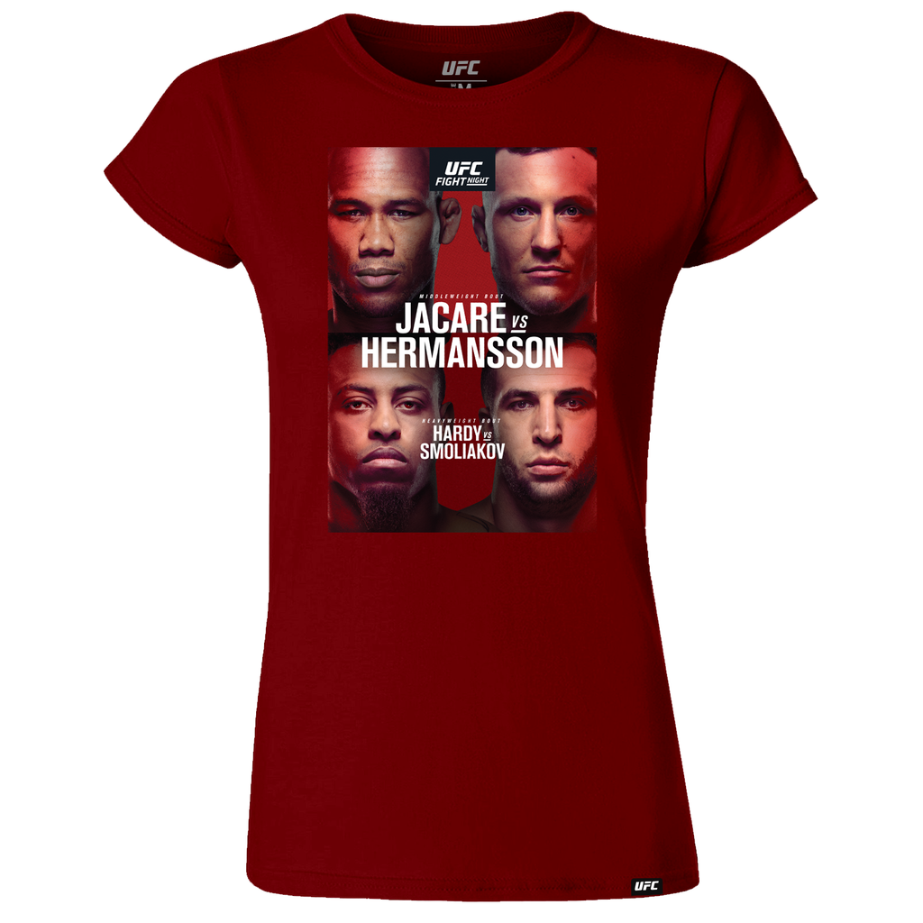 Women's UFC Fight Night Fort-Lauderdale Jacare vs Hermansson  Event T-Shirt - Red