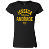 Women's Reebok Jessica Andrade Chalk Authentic UFC Fight Night Walkout Jersey