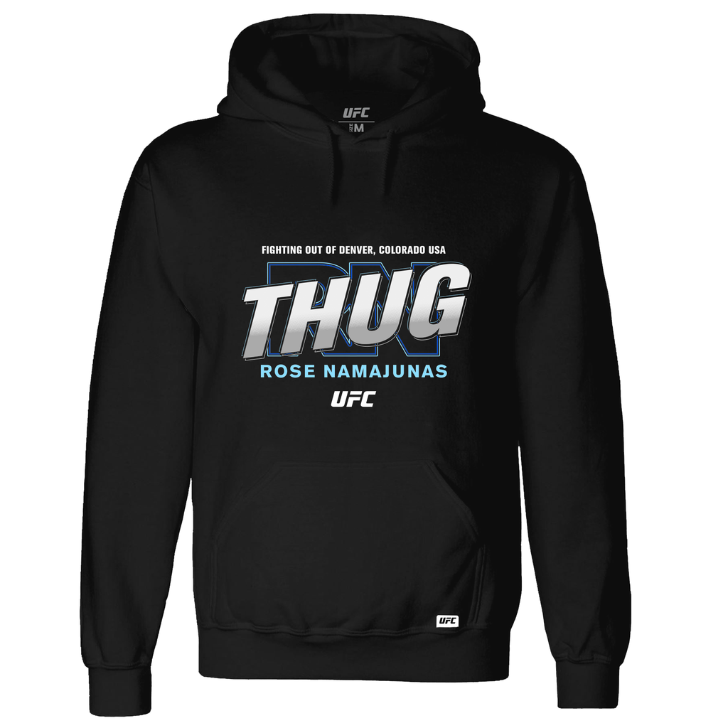 "UFC Men's Rose ""Thug"" Namajunas Graphic Hoodie-Black"