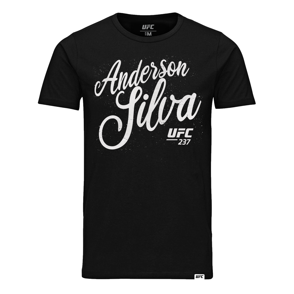 "UFC Men's Anderson ""The Spider"" Silva Script T-Shirt- Black"