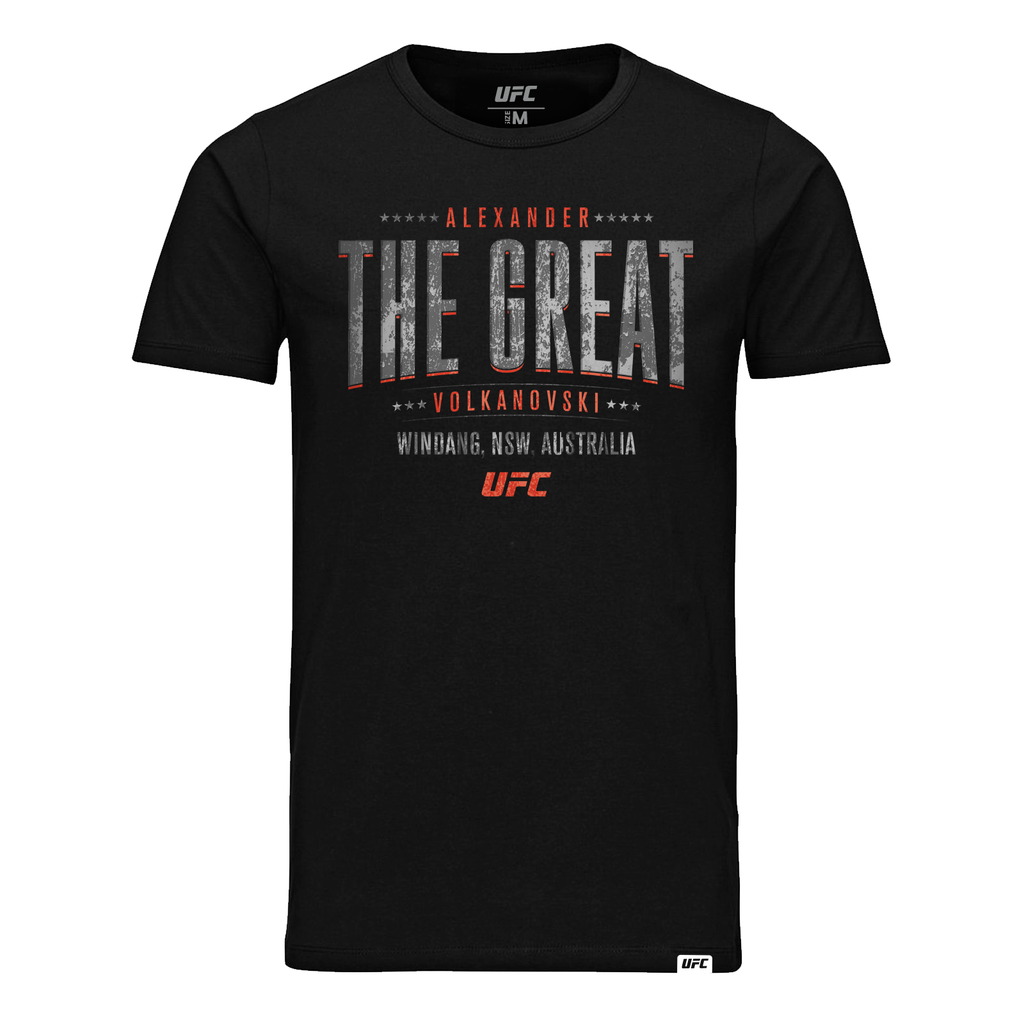 "UFC Men's UFC Alexander ""The Great"" Volkanovski Shield T-Shirt- Black"